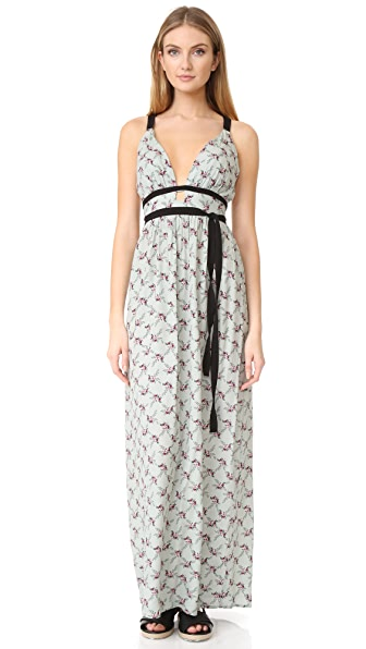 WAYF Port Henry Cross Strap Dress