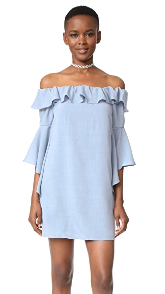 WAYF Kiera Off Shoulder Ruffle Dress at Shopbop