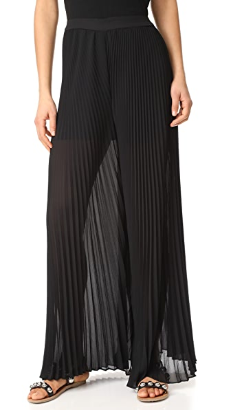 WAYF Banner Pleated Palazzo Pants - Black