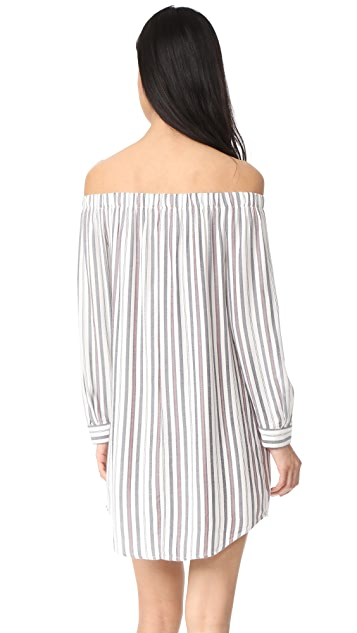 WAYF Rachel Off Shoulder Shirtdress
