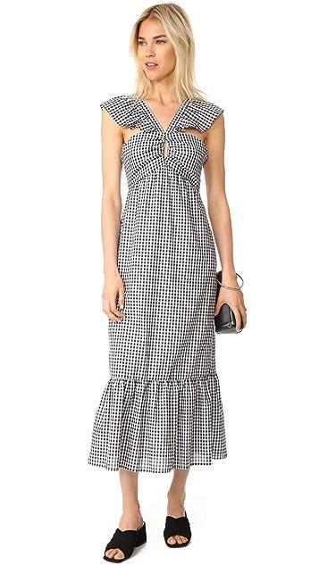 WAYF Bella Ruffle Strap Tiered Dress