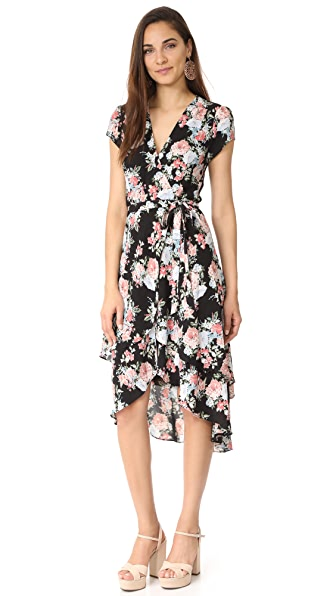 WAYF Oleander Layered Wrap Dress