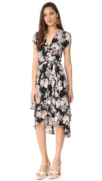 WAYF Oleander Layered Wrap Dress
