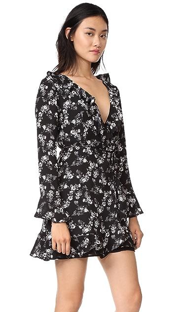 WAYF Maddie Wrap Mini Dress