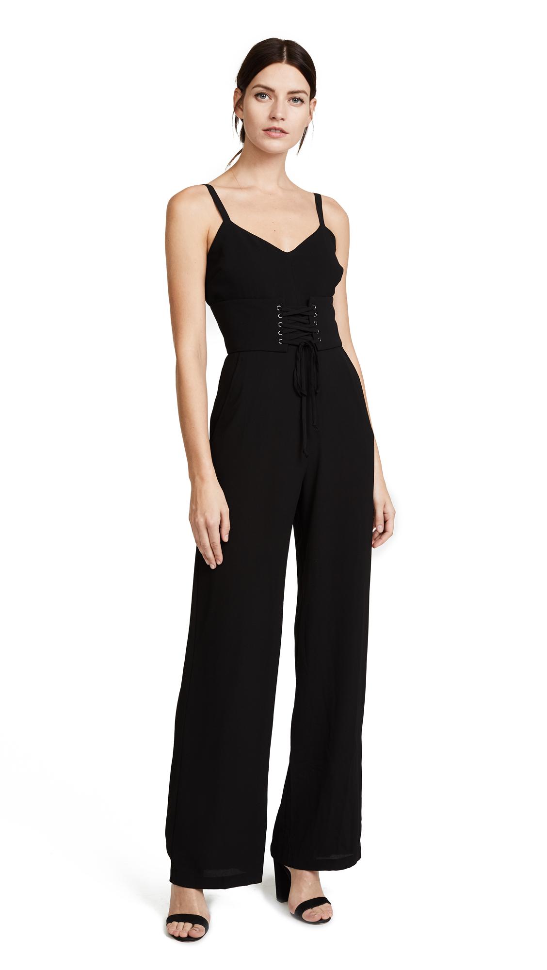 WAYF Ripley Corset Jumpsuit - Black