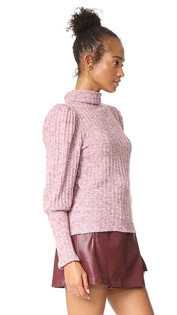 WAYF Vera Mock Neck Pullover