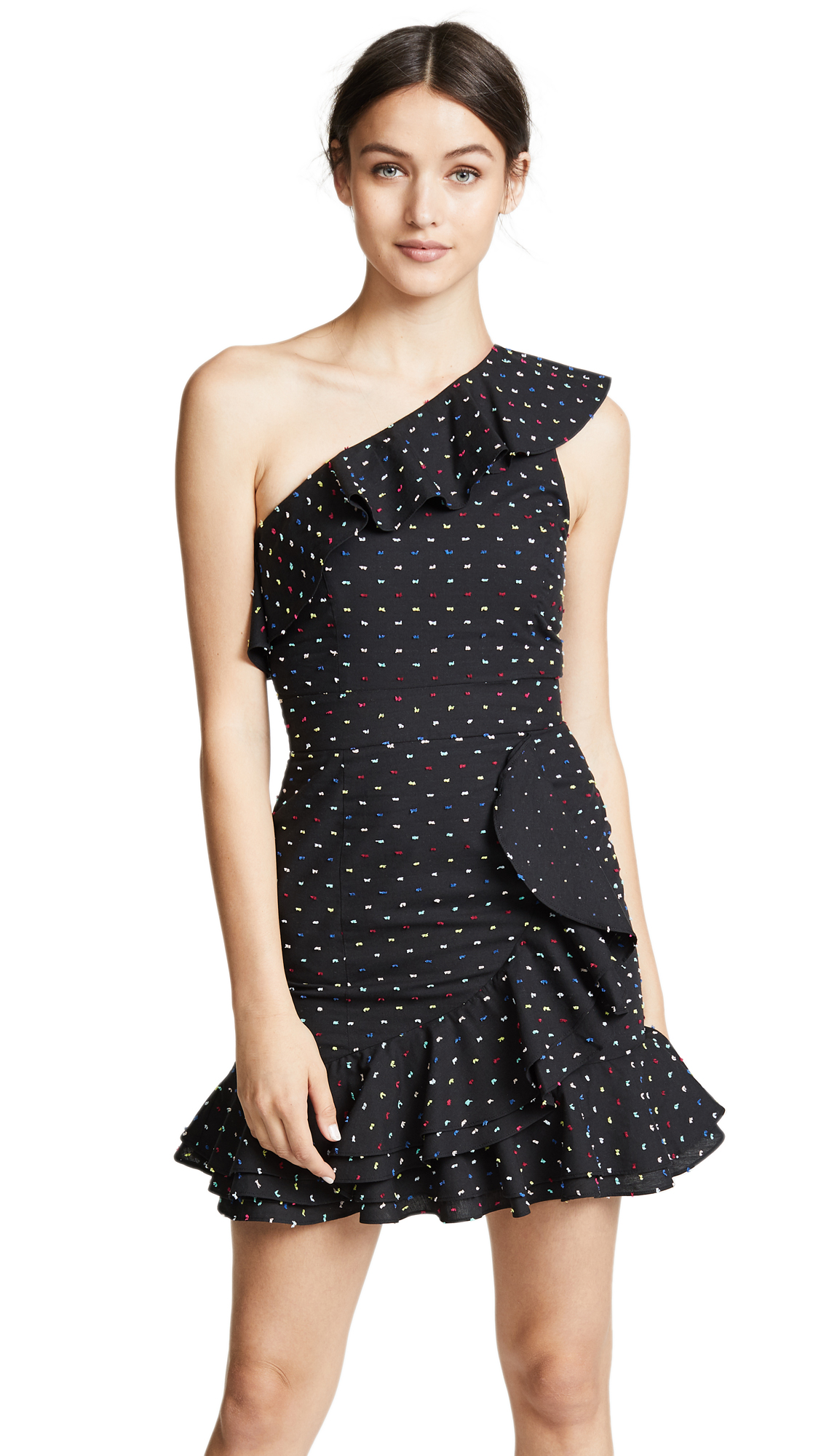 WAYF Norton One Shoulder Mini Dress