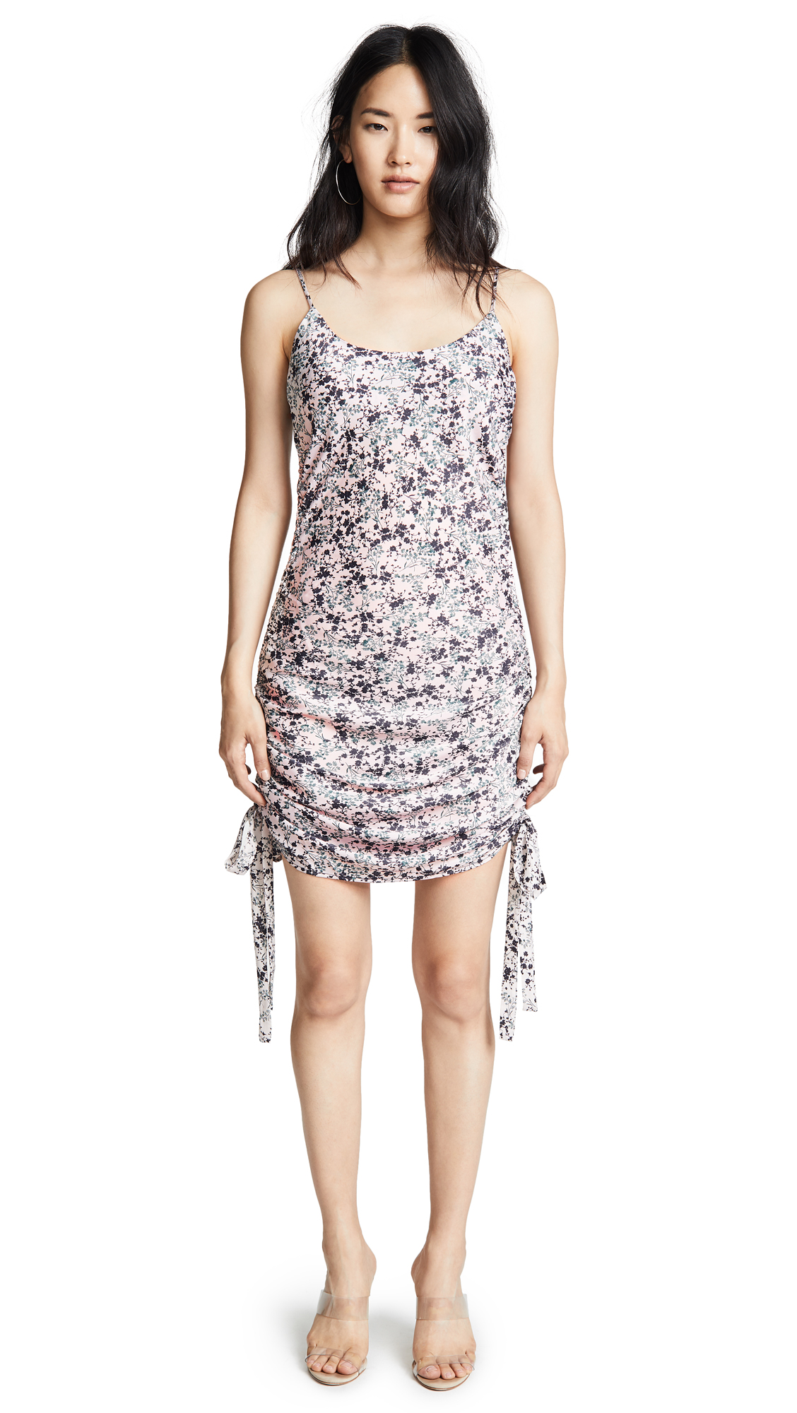 WAYF Percy Dress In Pink Shadow Floral