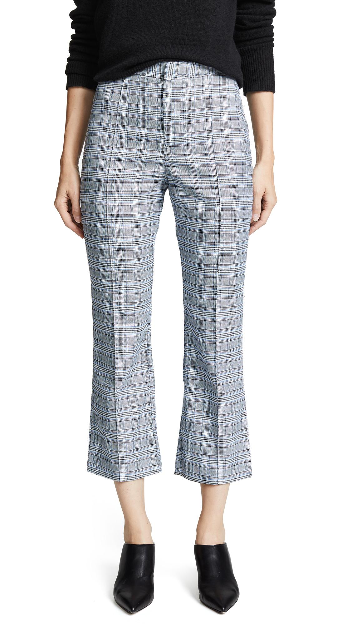 WAYF Finn Cropped Pants - Blue Tweed