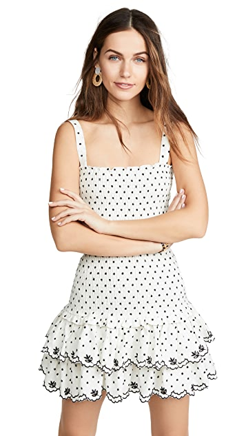 WAYF Herbie Smocked Mini Dress