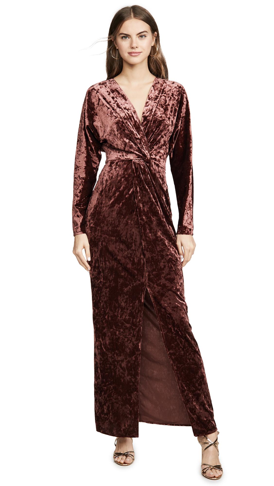 WAYF Roslyn Twist Front Midi Dress - 30% Off Sale