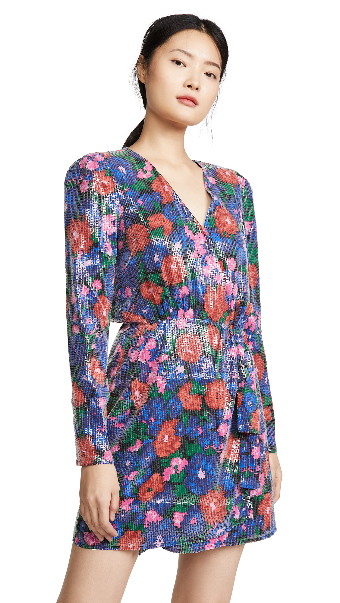 Buy WAYF online - photo of WAYF Mylene Mini Wrap Dress