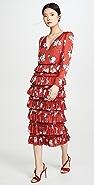 WAYF Darlene Long Sleeve Tiered Dress