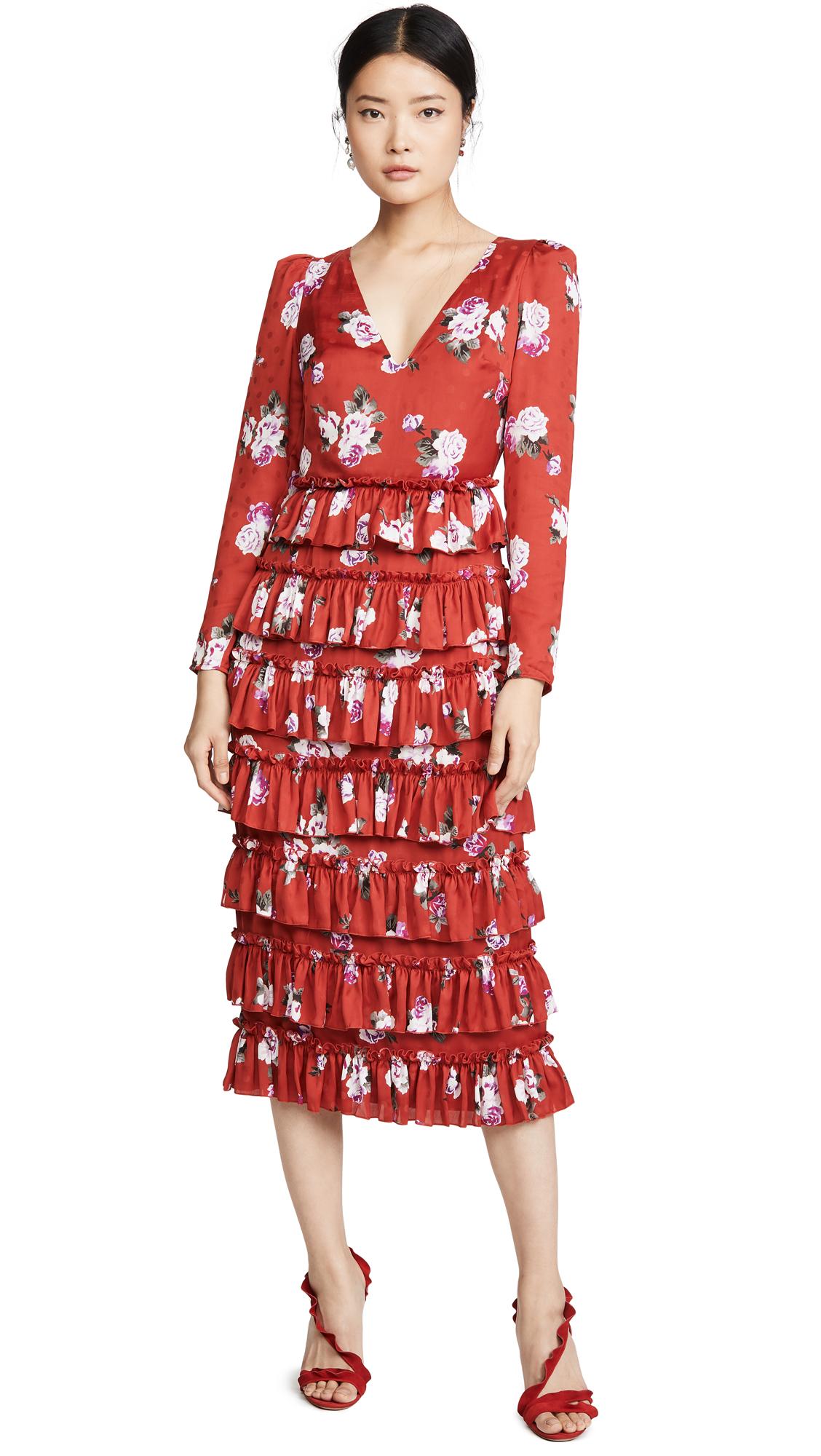 Buy WAYF online - photo of WAYF Darlene Long Sleeve Tiered Dress
