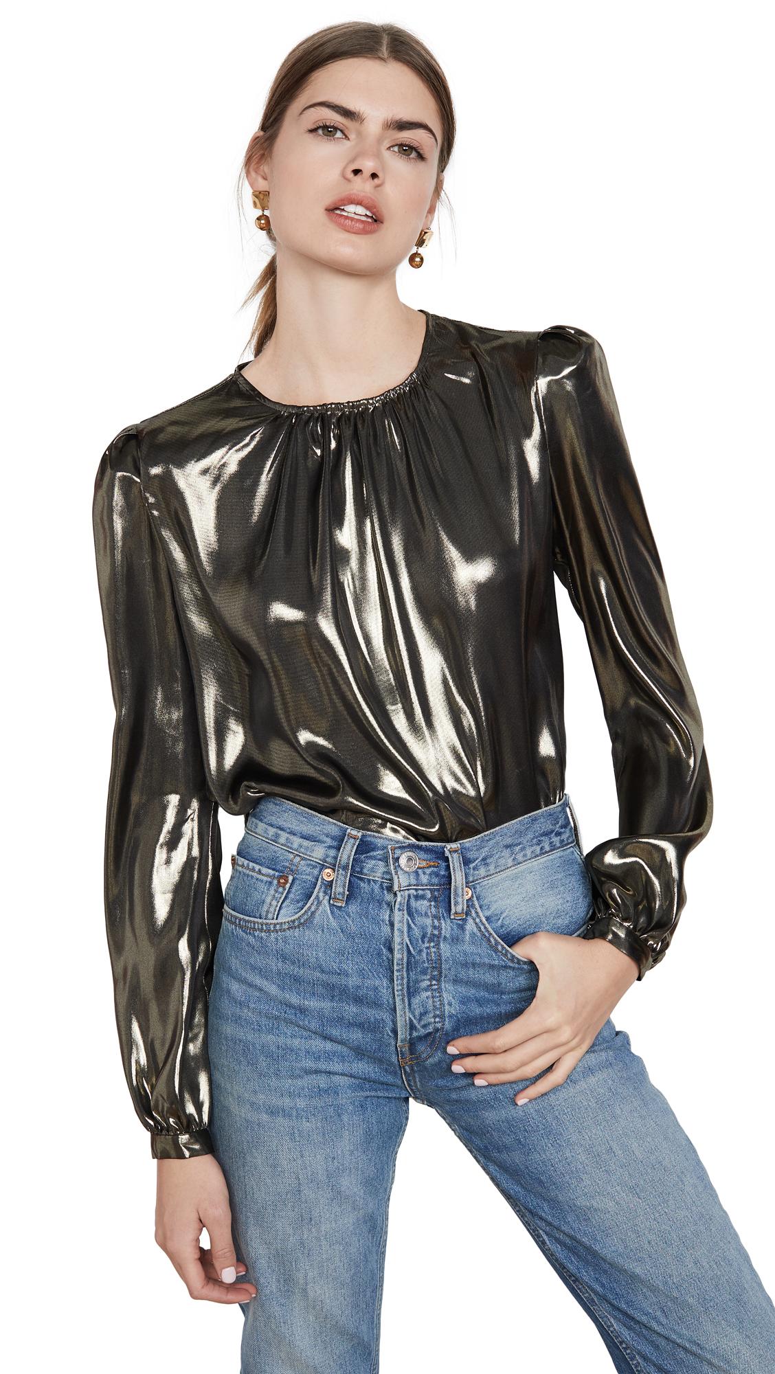 Buy WAYF online - photo of WAYF Josaline Long Sleeve Blouse