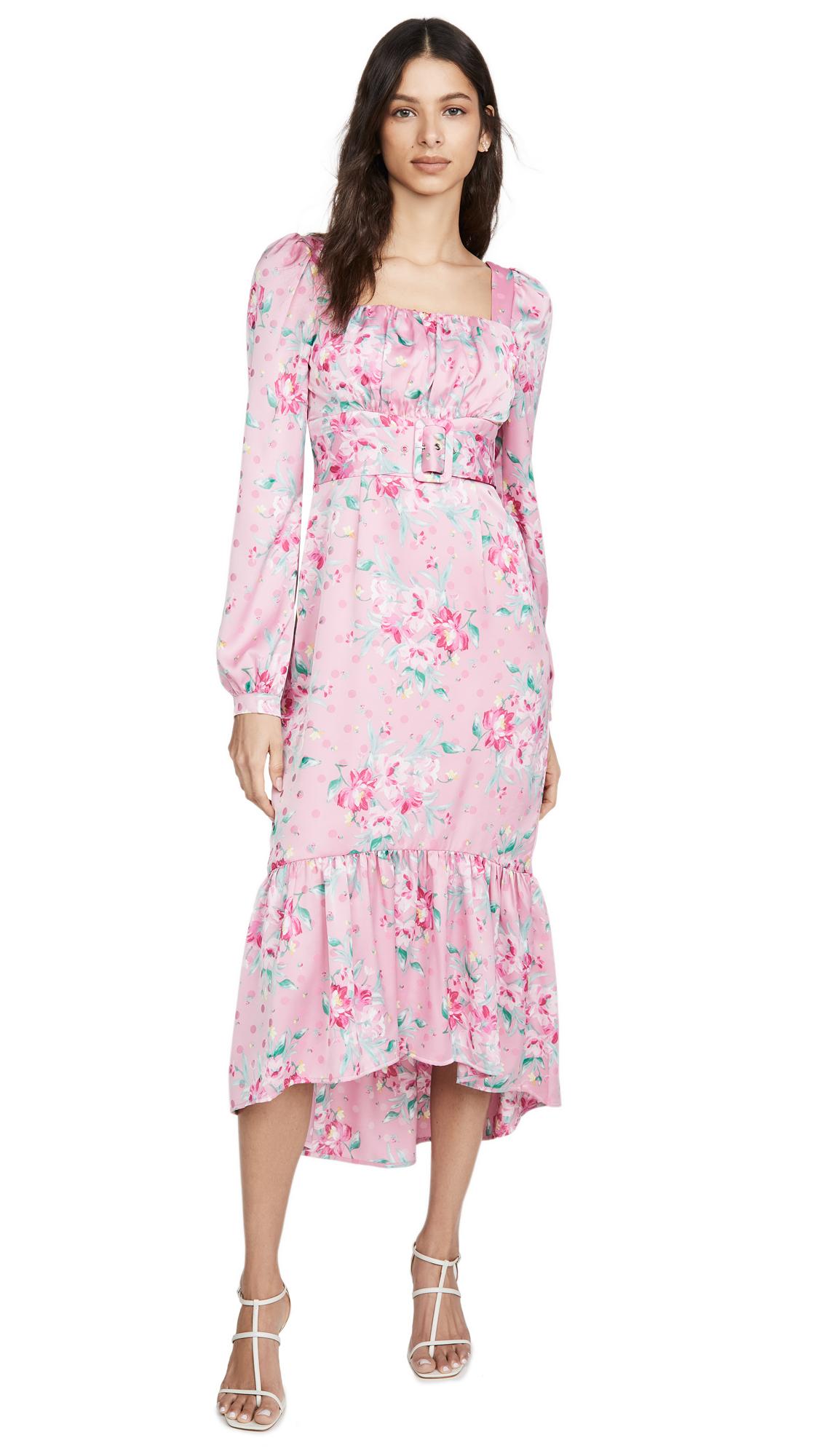 Buy WAYF Flirt Belted Bustier Midi Dress online beautiful WAYF Clothing, Dresses