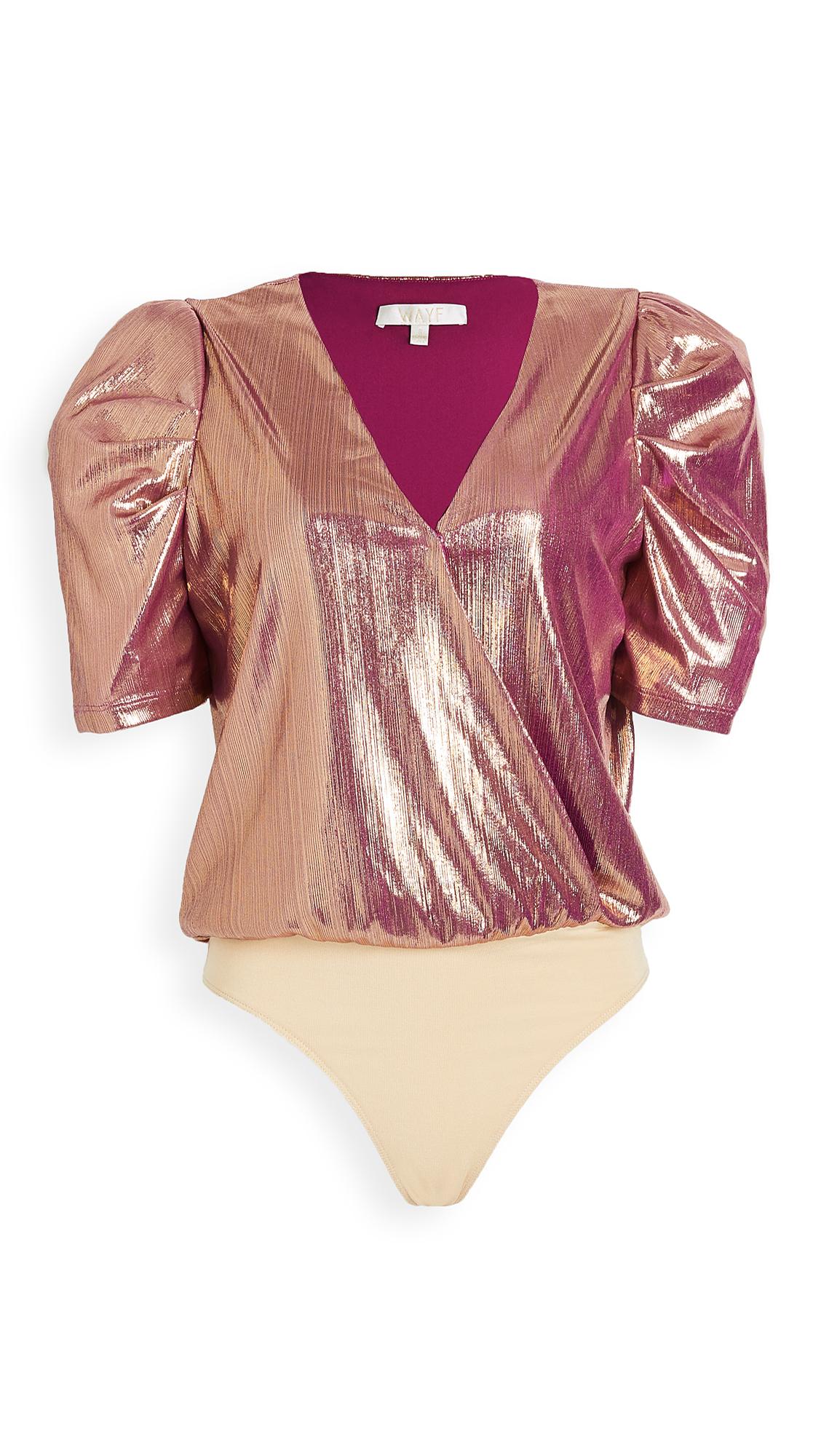 WAYF Emma Puff Sleeve Thong Bodysuit - 30% Off Sale