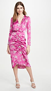 WAYF Ronnie Ruched Midi Dress