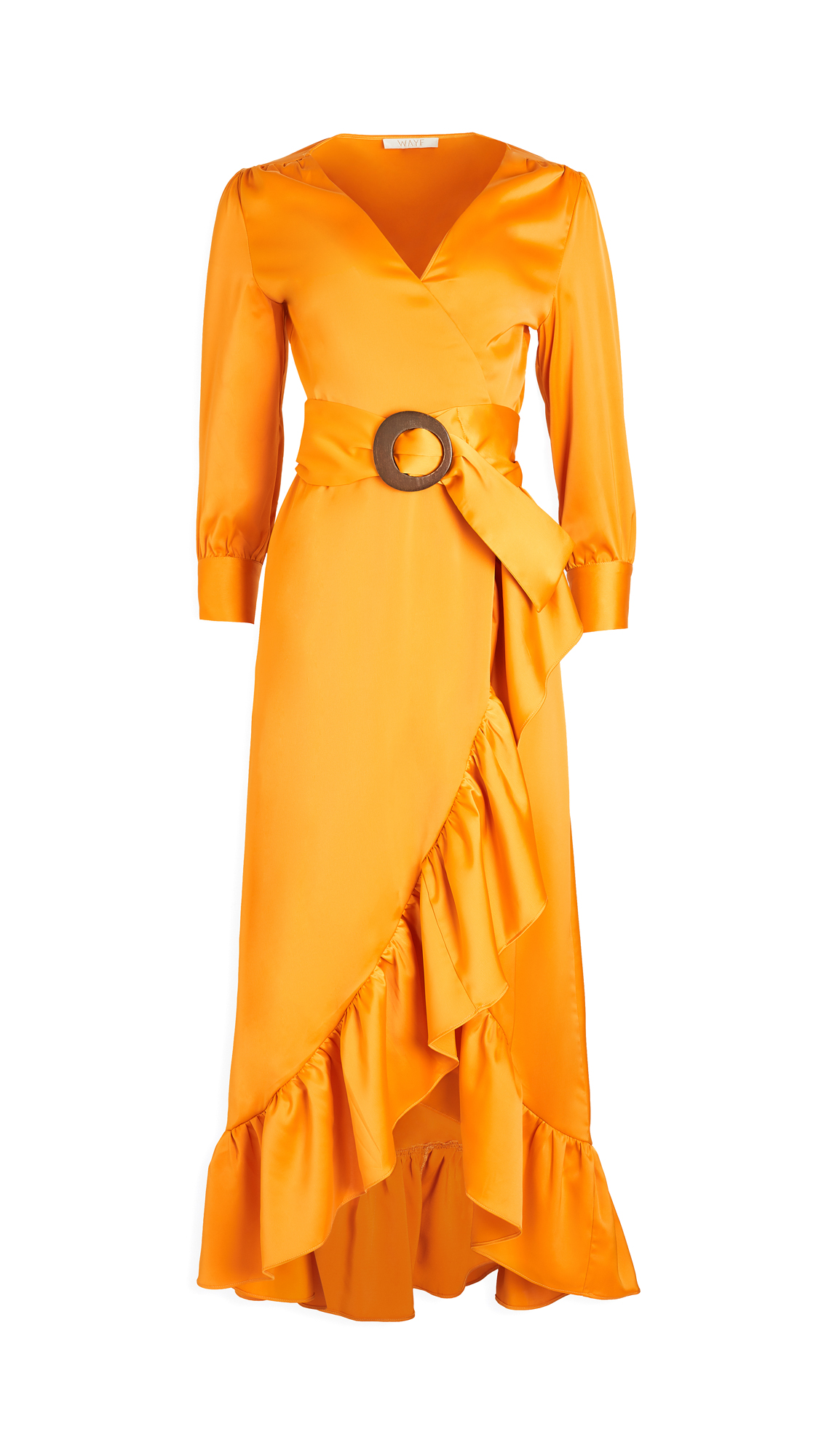 WAYF Savoia Belted Wrap Midi Dress – 30% Off Sale