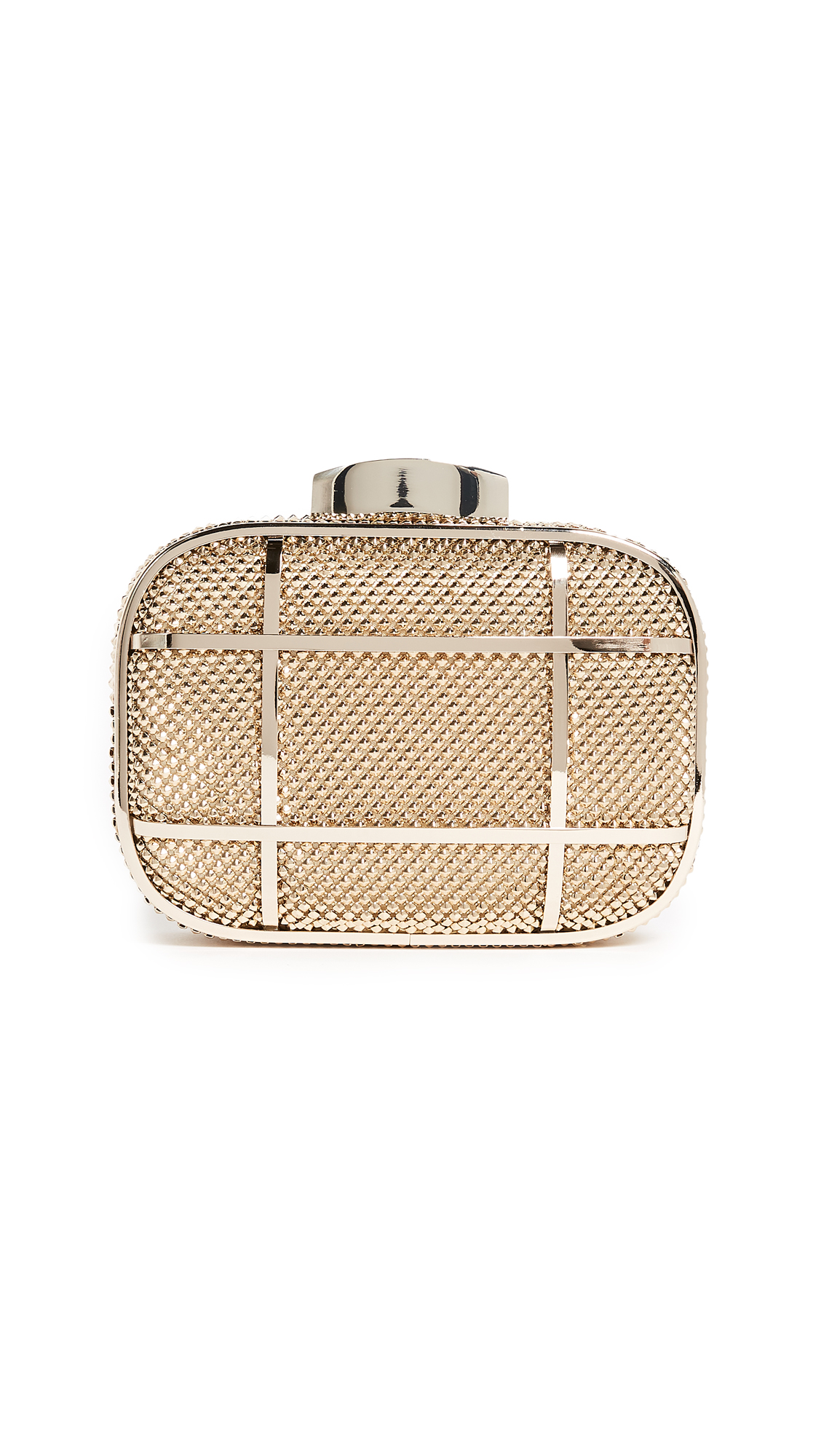 Whiting & Davis Cage Minaudiere Clutch - Gold