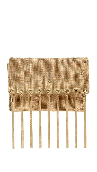 Whiting & Davis Tassel Fringe Clutch