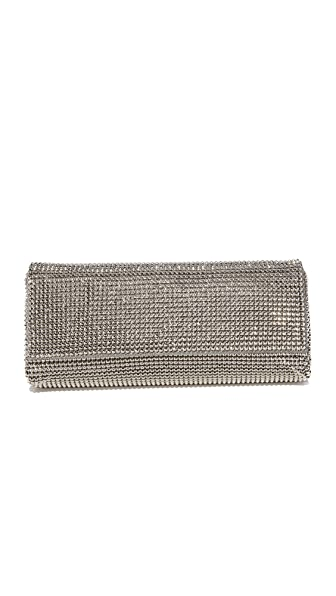 Whiting & Davis Pyramid Mesh Clutch