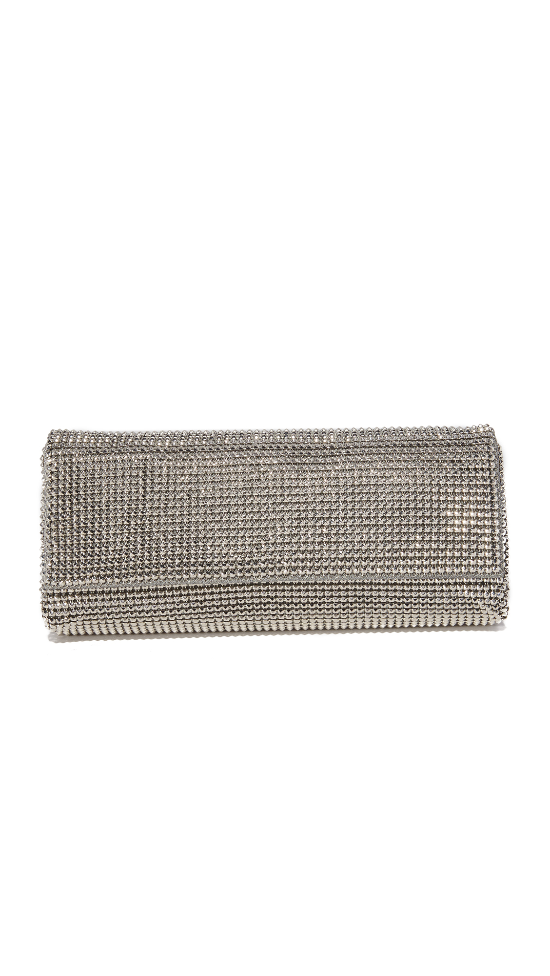 whiting davis female whiting davis pyramid mesh clutch pewter