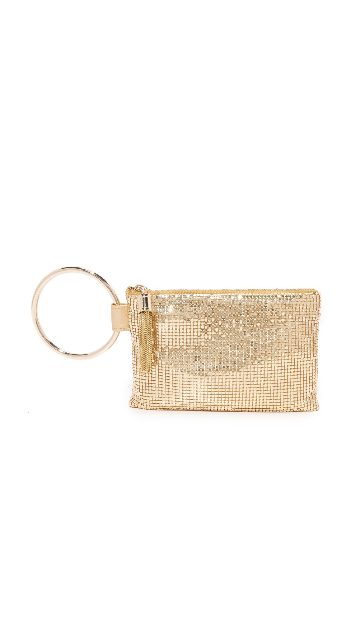 whiting davis female whiting davis ring tassle pouch gold