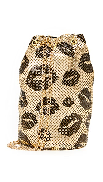 Whiting & Davis Kisses Bucket Bag - Gold