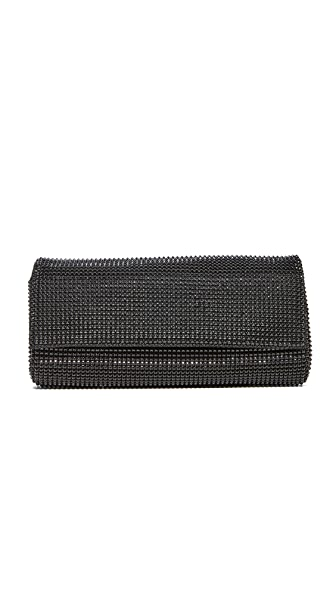 Whiting & Davis Pyramid Mesh Clutch - Black