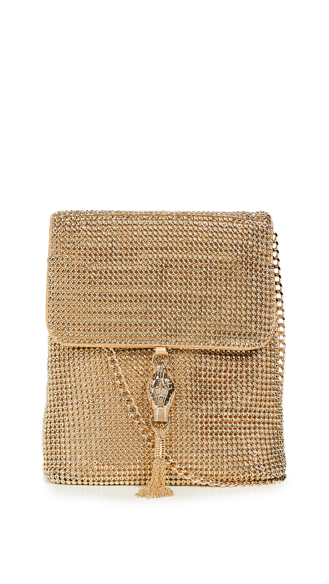Whiting & Davis Jeanne Cross Body Bag In Gold