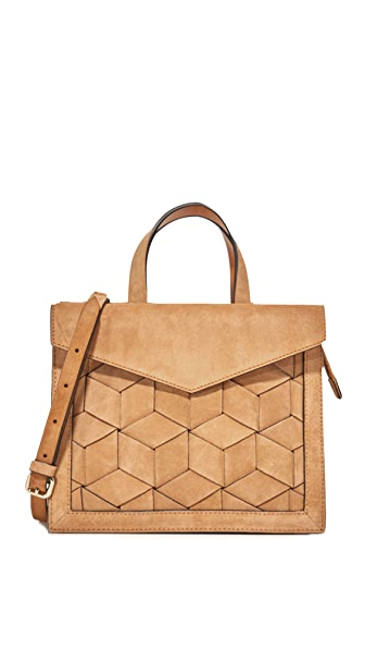 Welden Voyager Small Flap Satchel - Tan