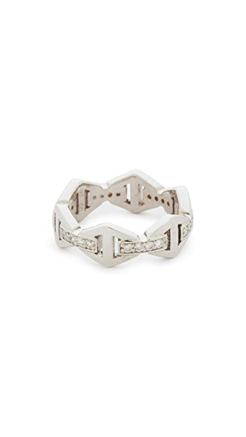 Walters Faith Keynes Diamond Hexagon Stackable Ring
