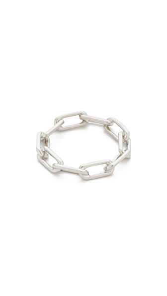Walters Faith Saxon Chain Link Ring - Silver