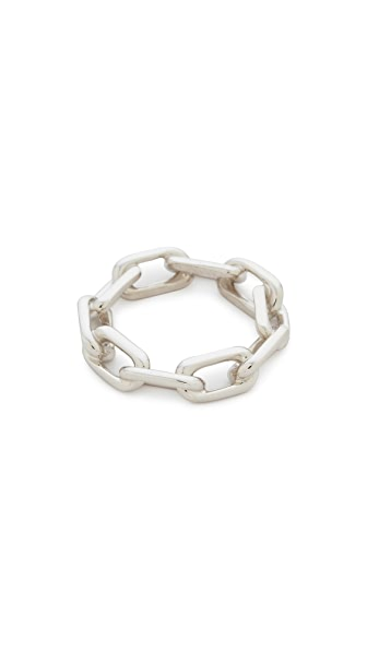 Walters Faith Saxon Thick Chain Link Ring In Silver