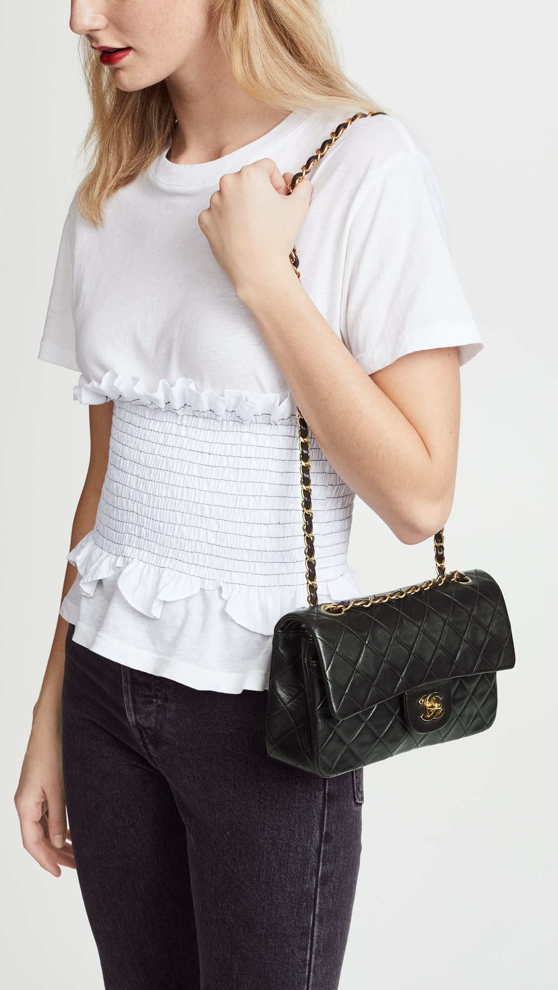 86e9c02a4ac844 What Goes Around Comes Around Chanel 2.55 Classic Flap Bag | SHOPBOP