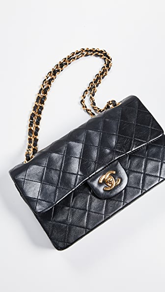 What Goes Around Comes Around Chanel 9   Shoulder Bag In Black ... 920319add4e5d