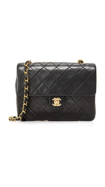 What Goes Around Comes Around Chanel Half Flap Bag (Previously Owned) - Black