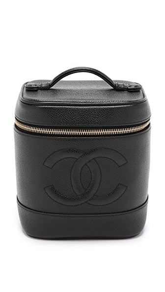 What Goes Around Comes Around Chanel Caviar Vanity Bag (Previously Owned) In Black