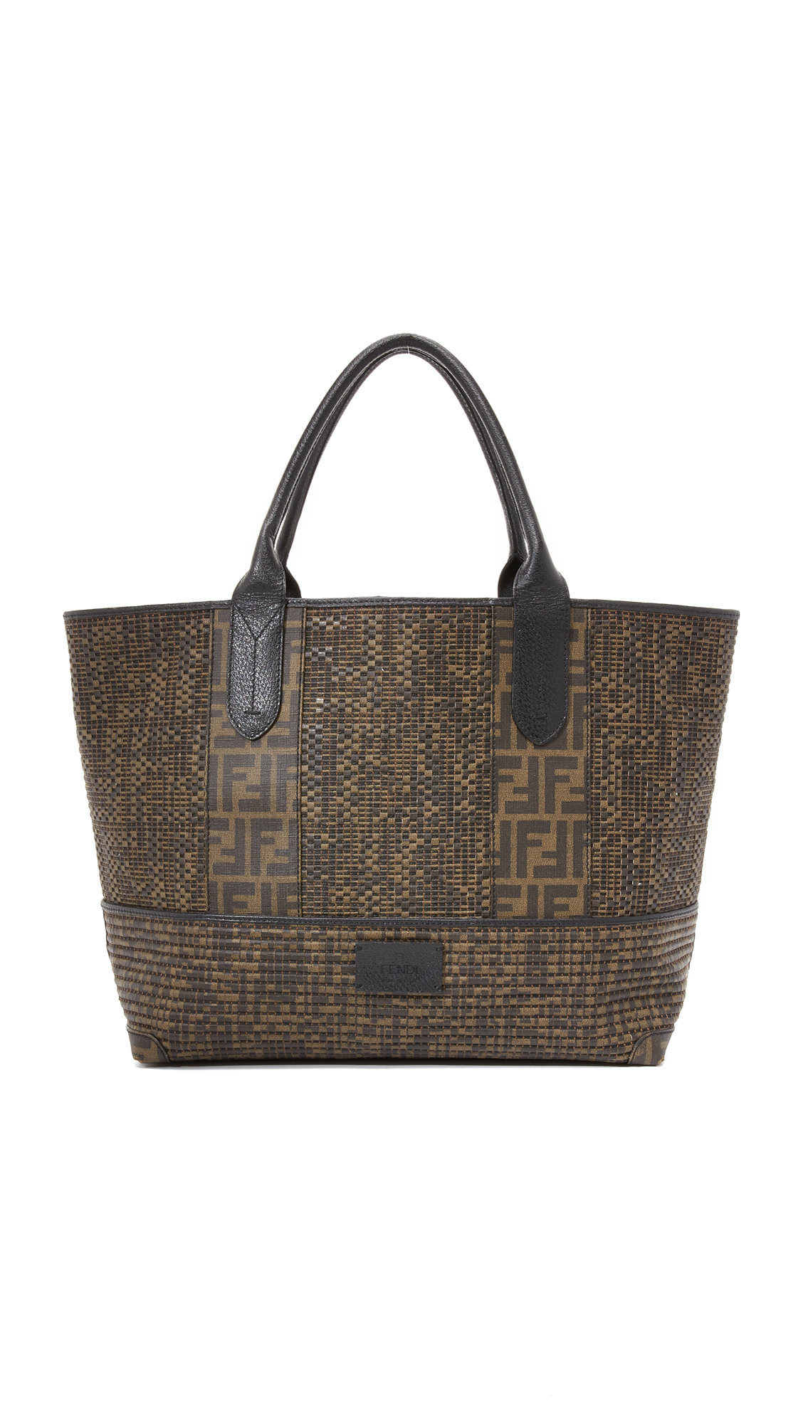 what goes around comes around female what goes around comes around fendi zucca roll shoulder bag previously owned brown