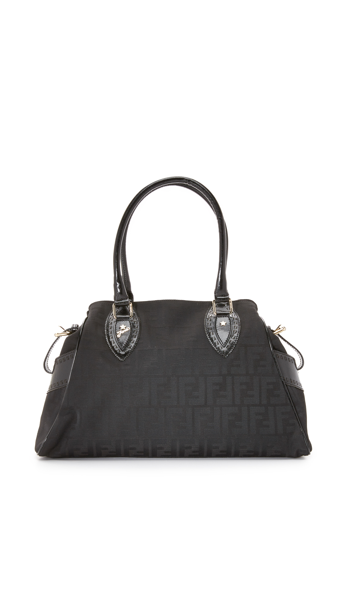 what goes around comes around female what goes around comes around fendi zucca du jour bag previously owned black