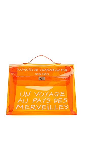 What Goes Around Comes Around Hermes Vinyl Kelly Bag (Previously Owned) - Orange