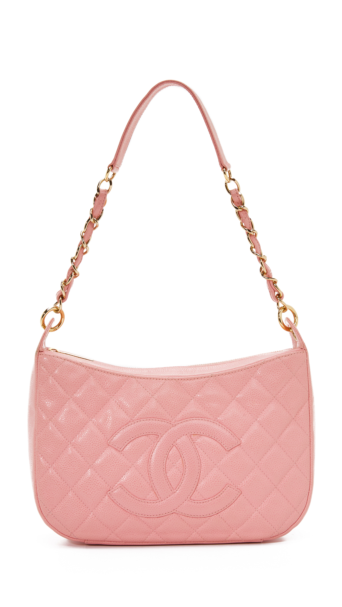 what goes around comes around female what goes around comes around chanel shoulder bag previously owned pink