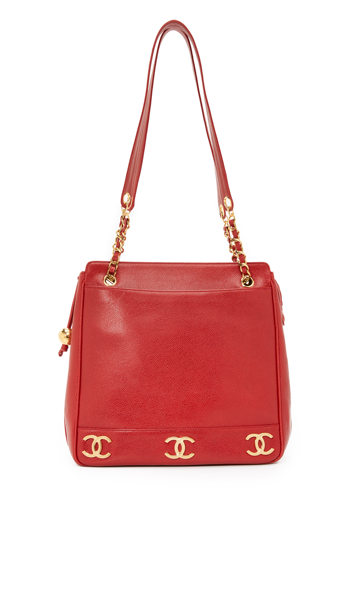 what goes around comes around female what goes around comes around chanel cc tote previously owned red