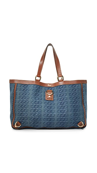 What Goes Around Comes Around Gucci Denim Abbey Tote (Previously Owned) - Blue