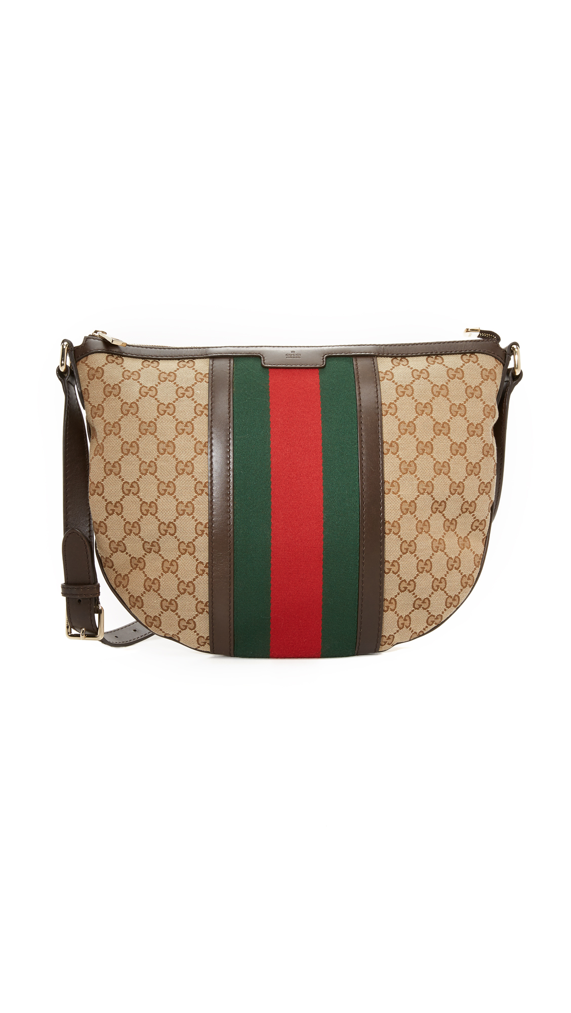 what goes around comes around female what goes around comes around gucci web messenger bag previously owned brown