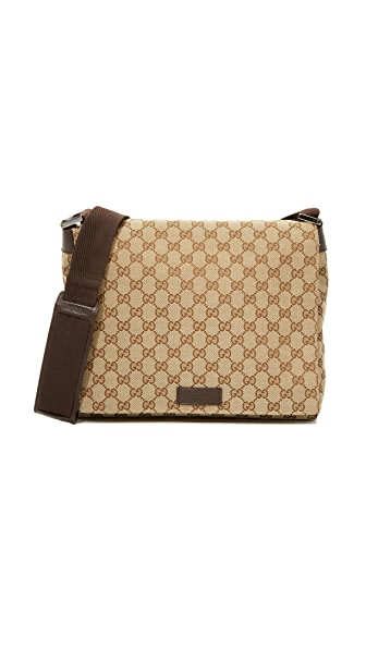 What Goes Around Comes Around Gucci Small Messenger Bag (Previously Owned) - Brown