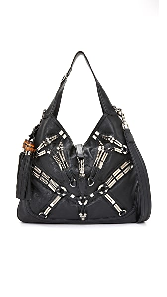 What Goes Around Comes Around Gucci New Jackie Shoulder Bag (Previously Owned) - Black/Silver