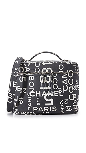 What Goes Around Comes Around Chanel Canvas Vanity Bag (Previously Owned) - Black/White