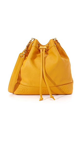 What Goes Around Comes Around Chanel Caviar Bucket Bag (Previously Owned) - Yellow